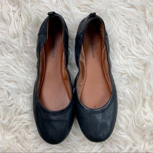 Lucky brand ballerina black flats size 13